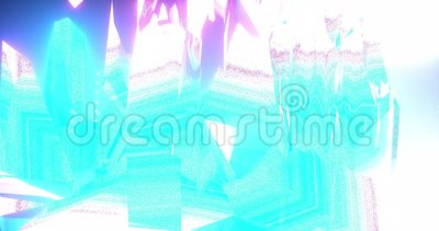 Abstrakt fractal i pastellfärgade färger stock illustrationer