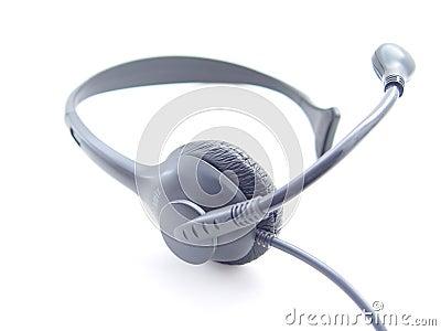 Abstrakt hörlurar med mikrofontelefon