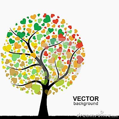 Abstrakt hjärtatree