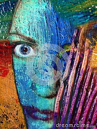 Abstrakt konstnärframsidastående