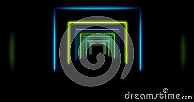 Abstrakt ljusstråle med ljusstrålar i en mosaik - 4 k lager videofilmer