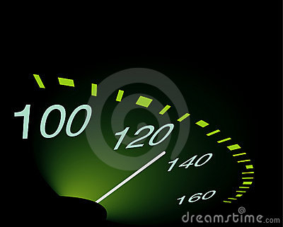 Abstrakt speedometer