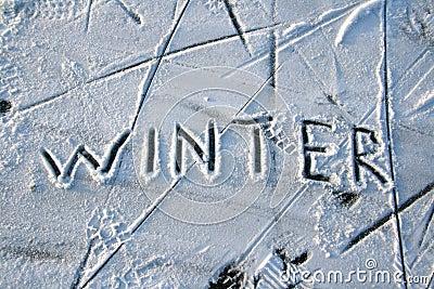 Abstrakt vinter