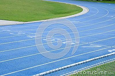 Abstrakte athletische Bahn