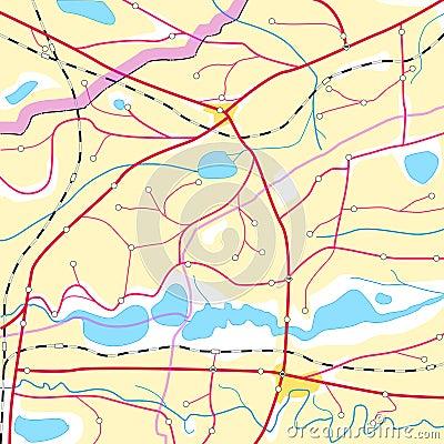 Abstrakte gelbe Geographiekarte