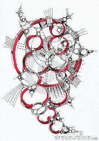 Abstrakte geometrische Zeichnung