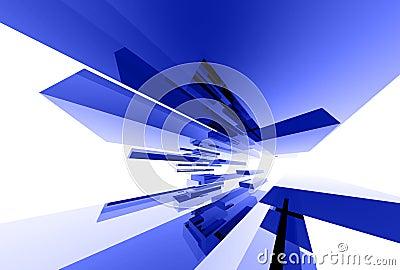 Abstrakte Glaselemente 031