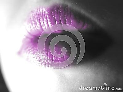 Abstrakte Lippen