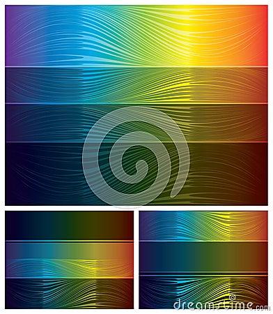 Abstrakte Spektrumhintergründe eingestellt
