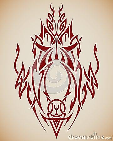 Abstrakte Stammes- Kunst