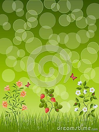 Abstrakter Blumenhintergrund