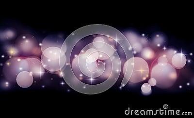 Abstrakter Feiertagshintergrund der glühenden Leuchten