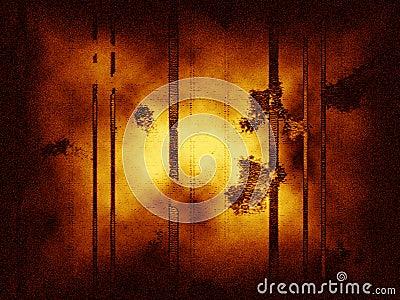 Abstrakter grungy Hintergrund mit vertikalen Zeilen, Staub und Geräuschen.