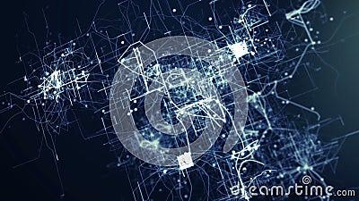 Abstrakter tehnology Hintergrund lizenzfreie abbildung