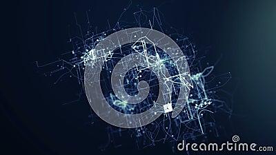 Abstrakter tehnology Hintergrund stock abbildung
