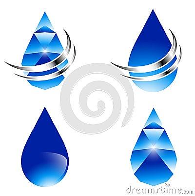 Abstrakter Wasser-Tropfen-Satz