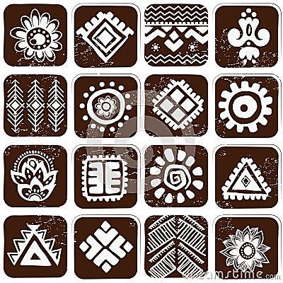 Abstraktes Stammes- Muster