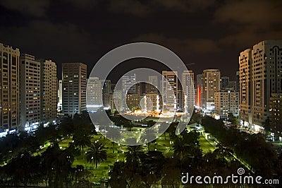 Abu dhabi city by night