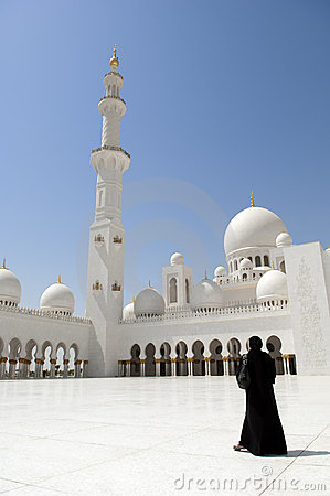 Abu Dhabi Dubai women at Sheikh Zayed Mosque