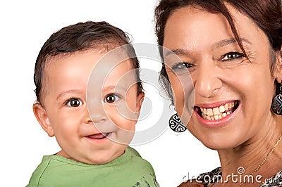 Abuela con el nieto