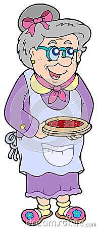 Abuelita con la torta
