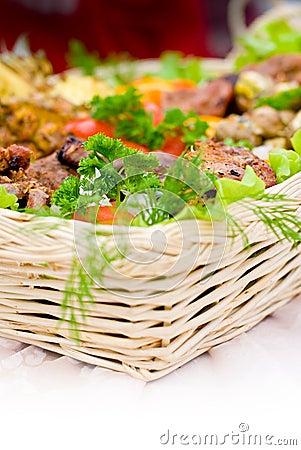 Abundant food basket