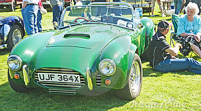 AC Cobra kit car at Forres Theme day. Editorial Stock Photo