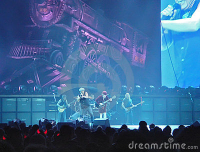 ACDC in concert, Black Ice Tour, NYC Editorial Photo