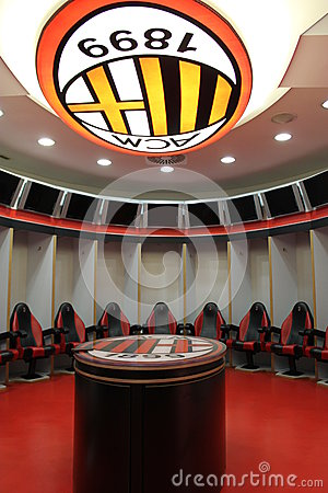 AC Milan changing rooms Editorial Photo