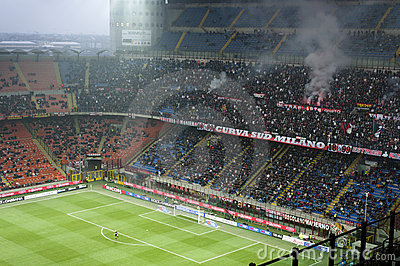 AC Milan Ultras  Editorial Image