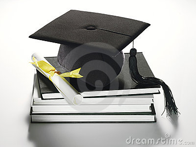 Academic cap and diploma