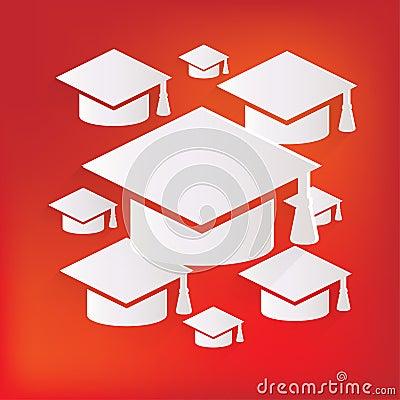 Academic Cap Icon. Study Cap Symbol Royalty Free Stock ...