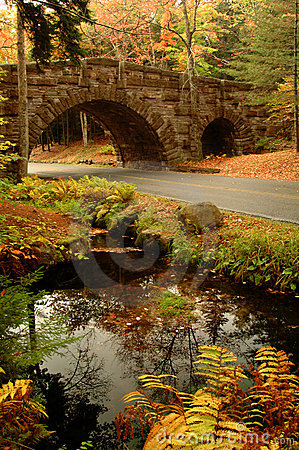 Acadia Arched Stone Bridge Royalty Free Stock Image - Image: 13065806