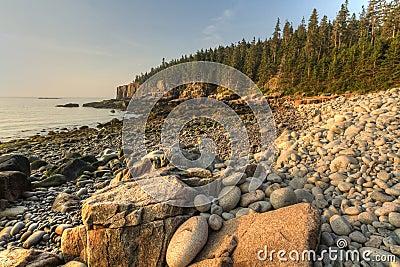 Acadia Boulder Beach Sunrise