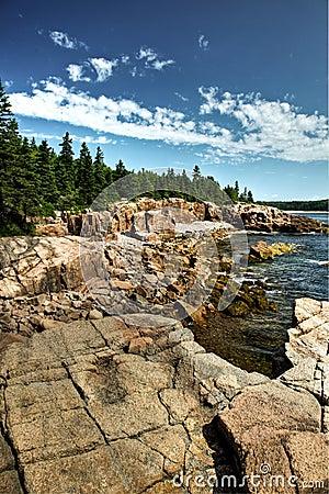 Acadian coastline