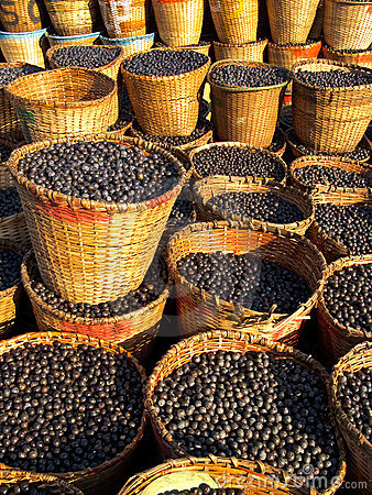 Acai in baskets