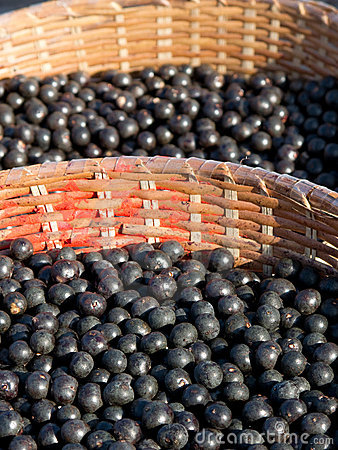 Free Acai In Baskets Royalty Free Stock Photography - 16087117