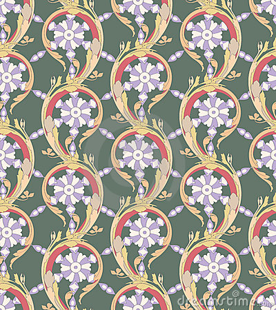 Acanthus leaves (seamless pattern)