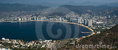 Acapulco Bay Ariel Panoramic
