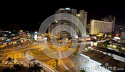 Acapulco at night Editorial Stock Image
