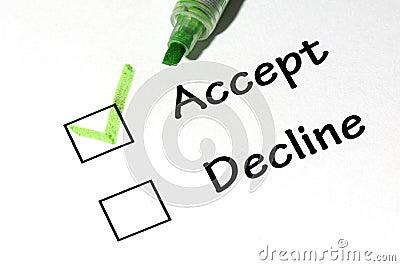 Accept decline