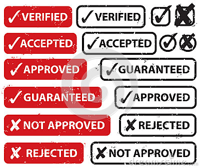 Accept Reject Stamp Set