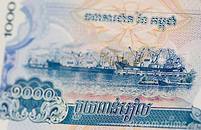 Acceso de Sihanoukville, Kampong Saom, billete de banco