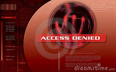 Access Denied Computer screen