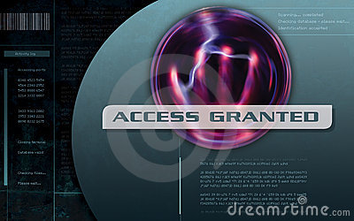 Access Granted Computer screen