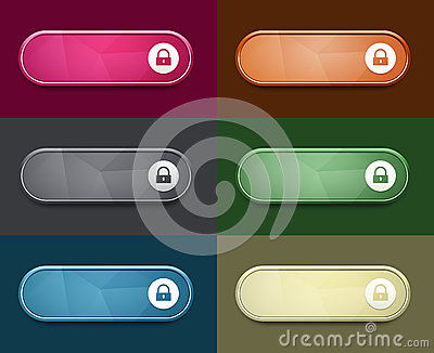 The access oval button set