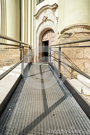Accessible path to church