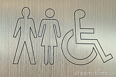 Accessible wc sign