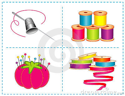 Accessories bright colors sewing