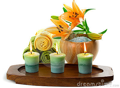 Accessories candles spa